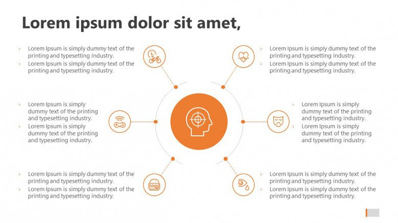 Orange Mind Map Slide