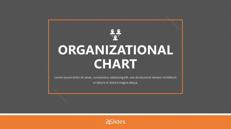 organizational chart welcome slide in corporate style
