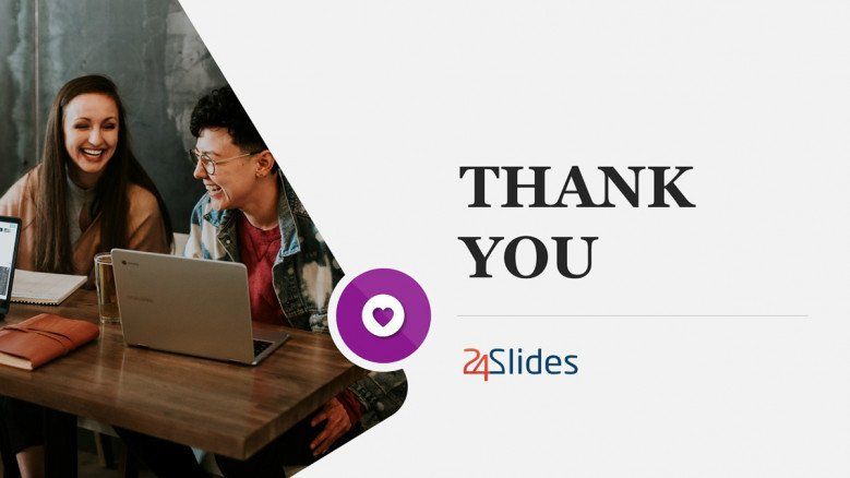 Creative Thank You Slide for Trends Report Presentation