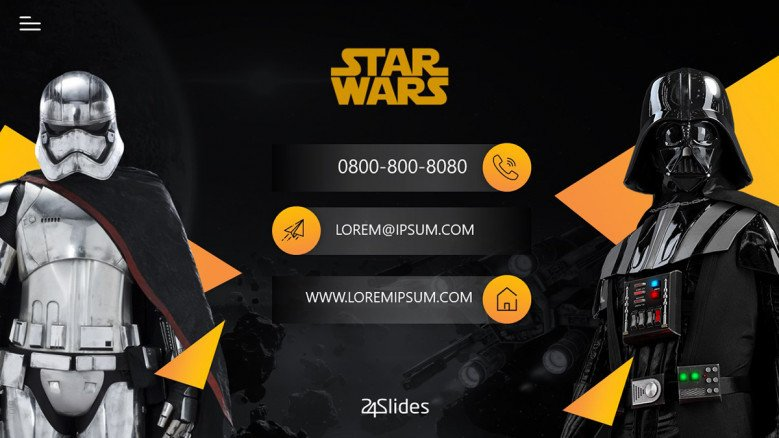 Star Wars Contact Slide