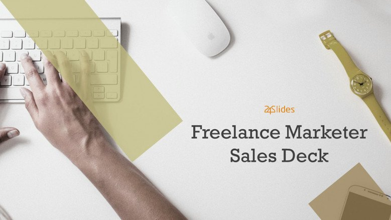 welcome slide for freelance marketer presentation