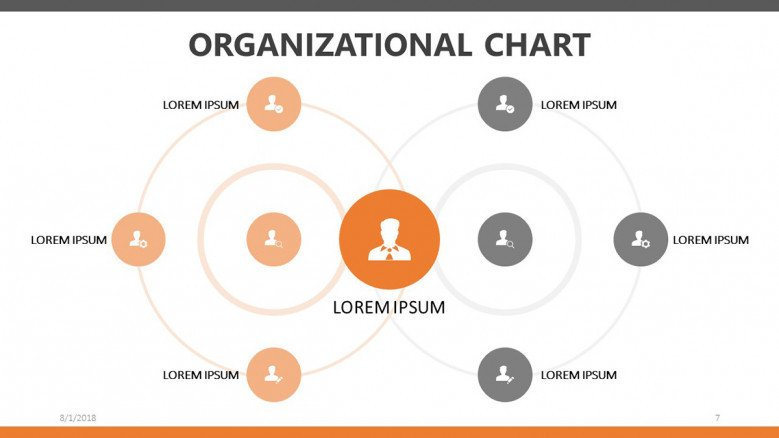 organizational chart in circle diagram with team profile