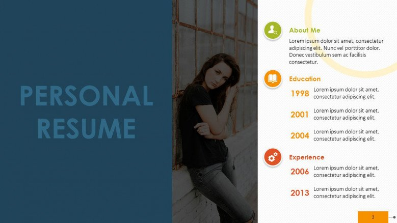 creative personal timeline resume