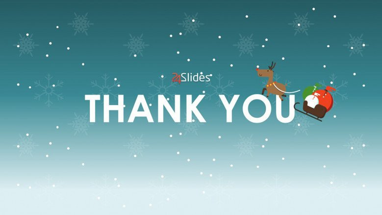 creative thank you slide for christmas theme presentation