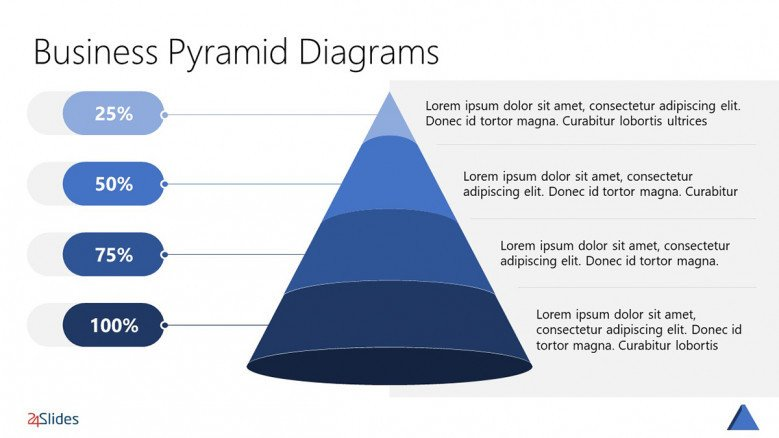 Pyramid Chart Template with four layers