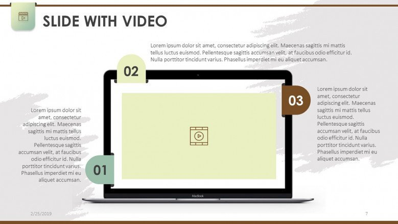 slide with video mobile app in laptop