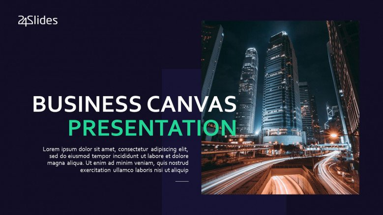 Title Slide for Business model Canvas Presentation