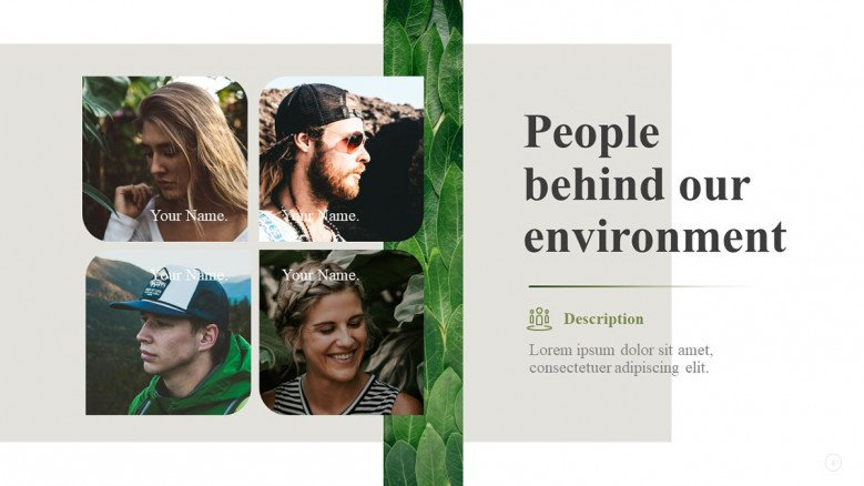 Environmental Team Slide for a NGO