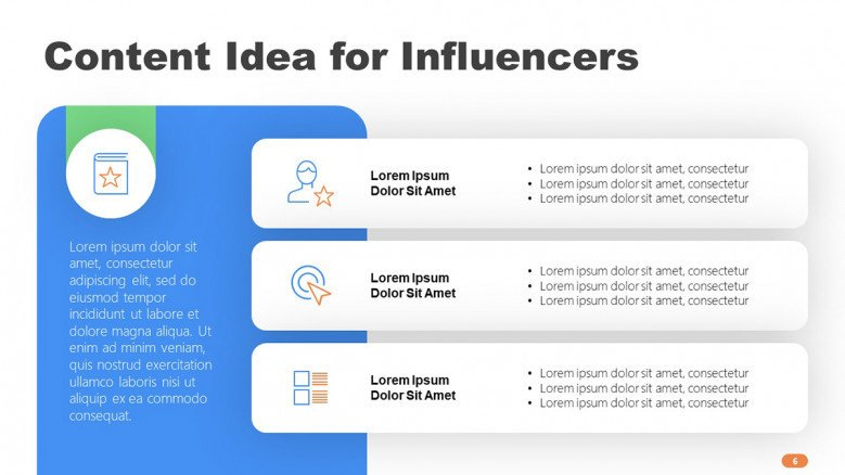 Content Ideas for Influencers Slide