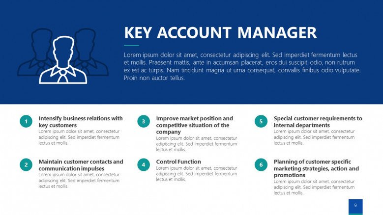 Six points list for key account managers