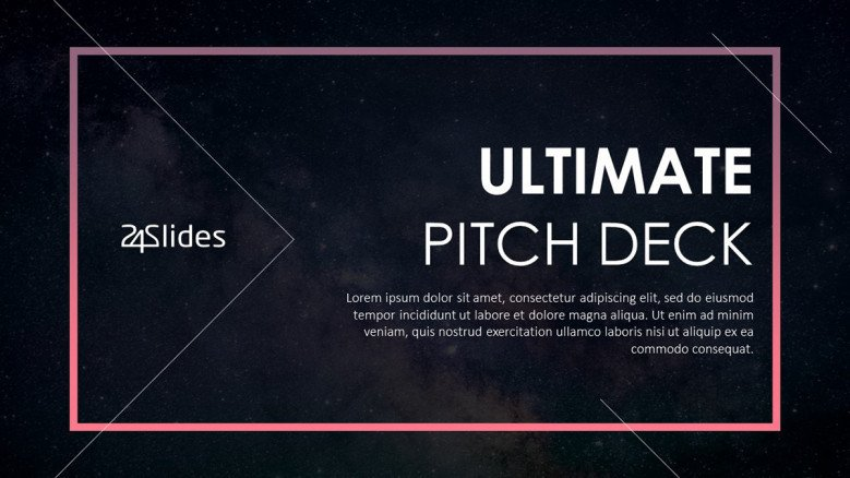ultimate pitch deck welcome slide in creative style