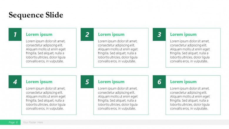 Sequence List Slide for a Boston Consulting Group Presentation