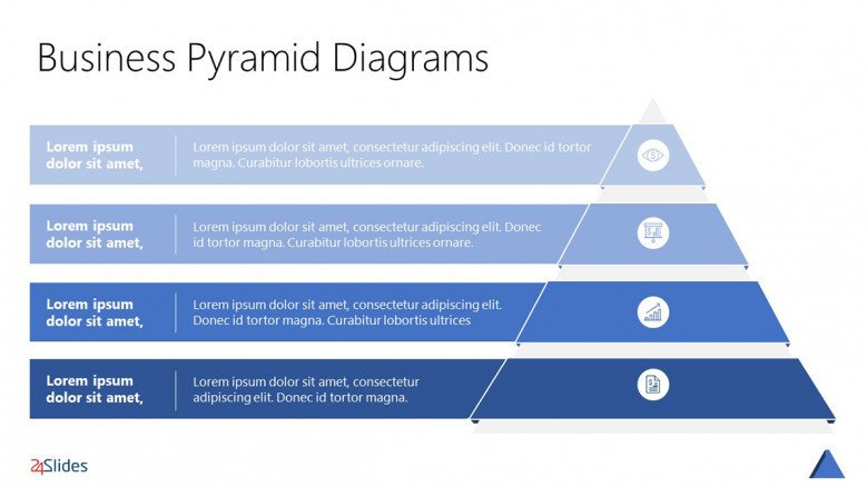 Pyramid Hierarchy Template in a blue scheme