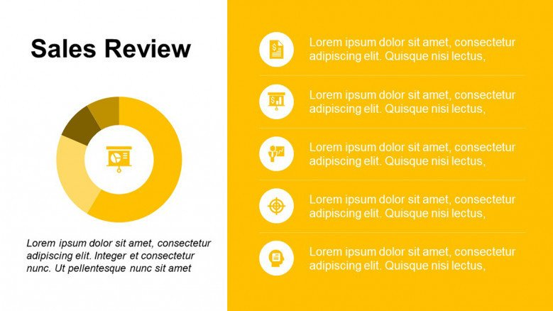 Business Sales Review PowerPoint Template