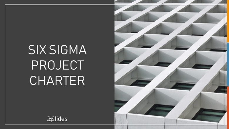 First slide for a Six Sigma Project Charter Presentation