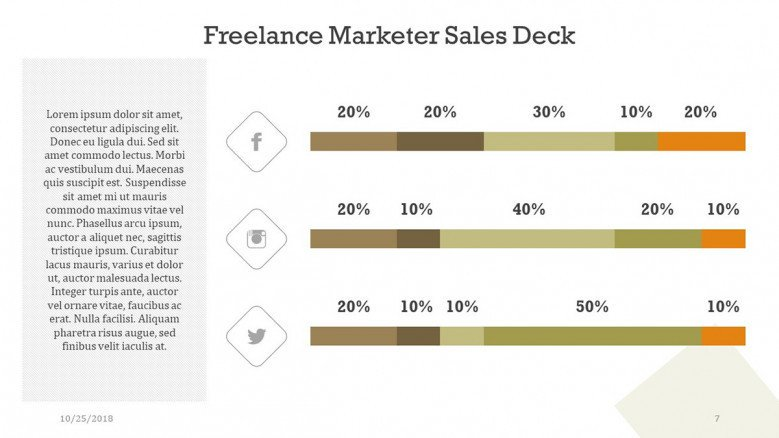 freelance marketer slide with bar graph