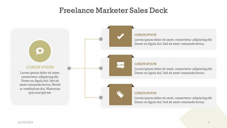 freelance marketer slides in three key factors