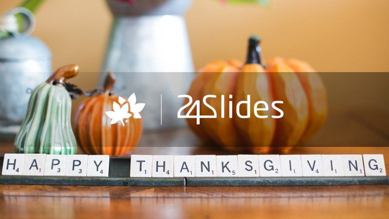 Thank You slide for a Thanksgiving presentation