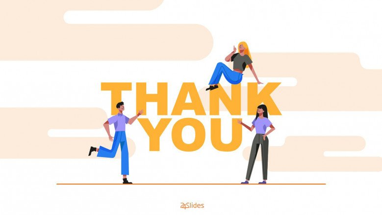 Illustrated thank you slide