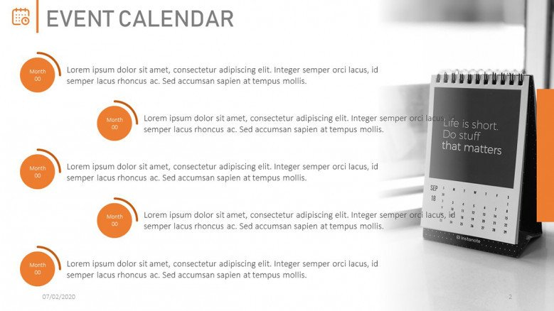 Quarterly Calendar for Meetings
