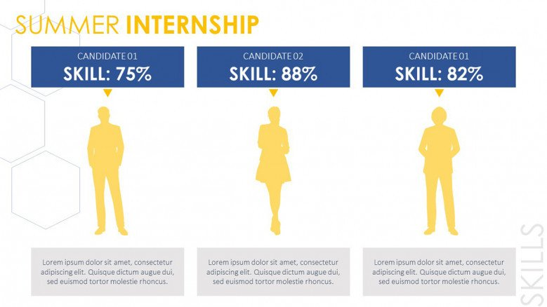 Summer Internship Candidates Slide