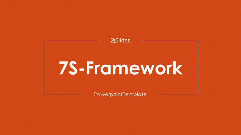 welcome slide for 7S framework presentation in minimalist style