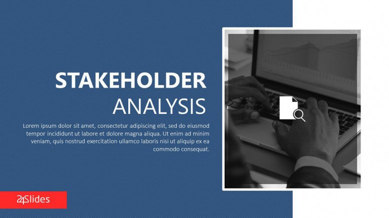 stakeholder analysis welcome slide in corporate style
