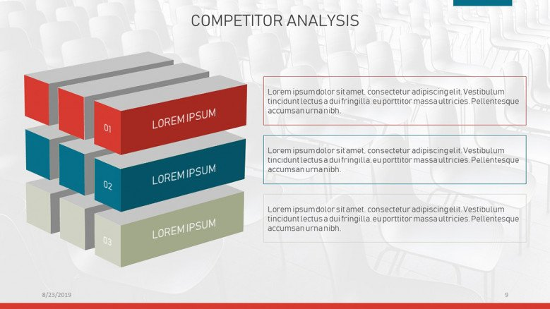 Infographic cube for competitor analysis