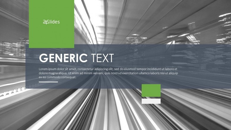 generic text welcome slide in corporate style
