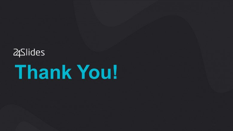 Dark-themed Thank You Slide for a corporate presentation
