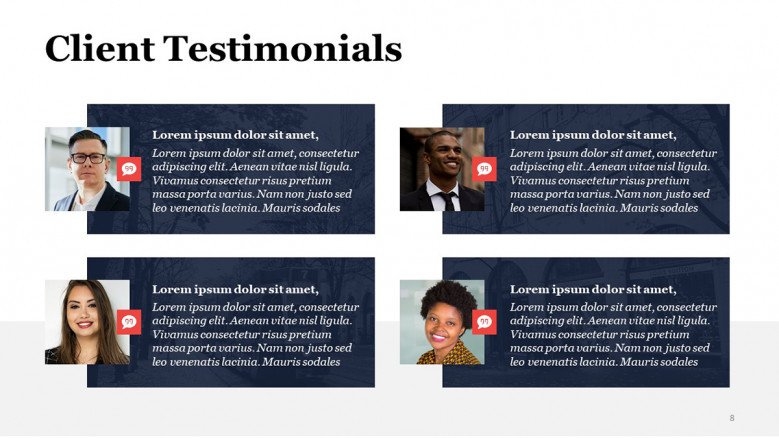Client Review PowerPoint Slide