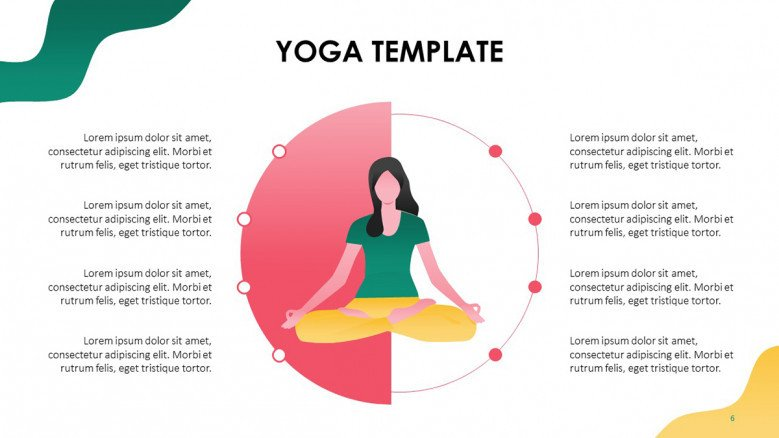 Playful Female illustration in a yoga position