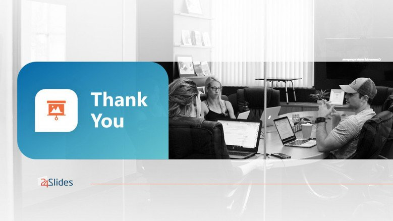 Blue Thank You Slide in creative style for a marketing campaign ppt presentation