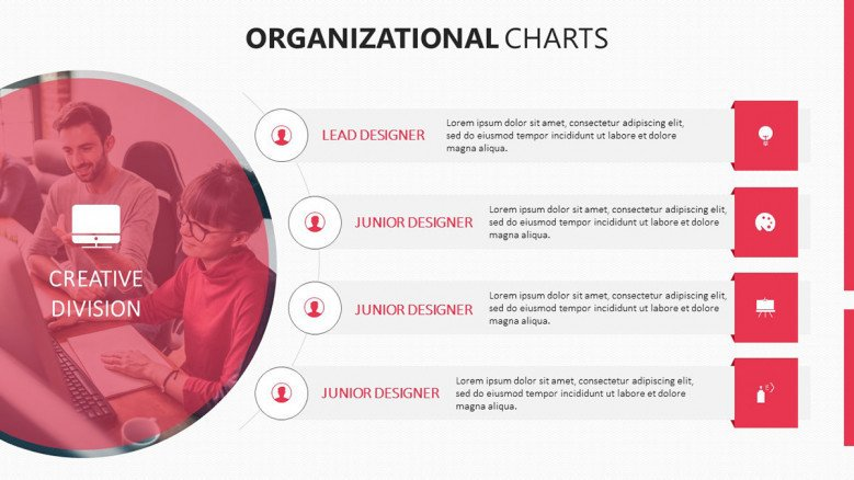 4 icon organizational divisions