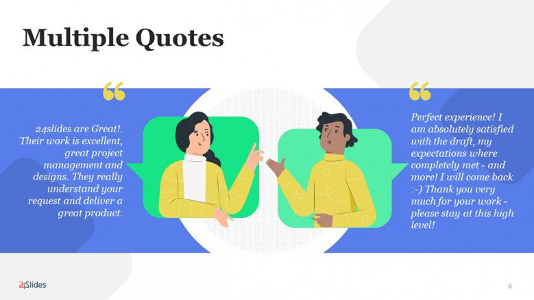 PowerPoint Quote Slide for a conversation
