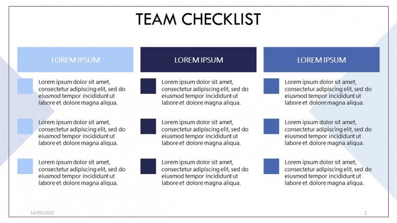 Team Checklist Templates
