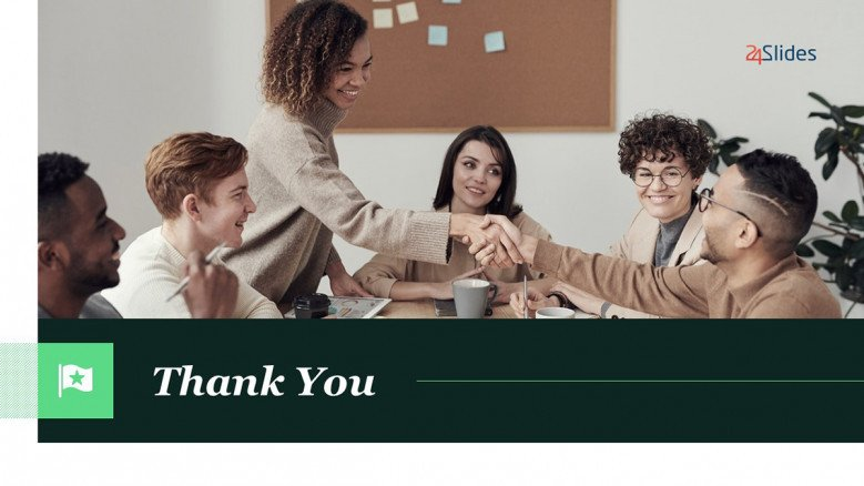 Green Thank You Slide for marketing powerpoint presentations