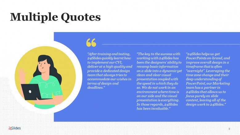 Modern Quote Slide PowerPoint Template for businesses