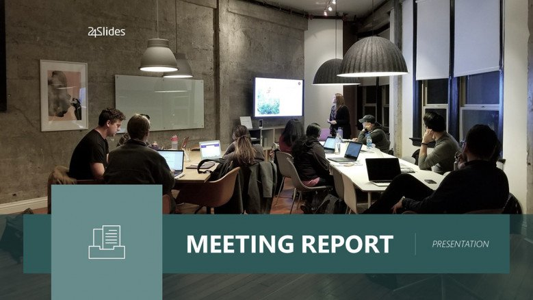 Meeting Report PowerPoint template
