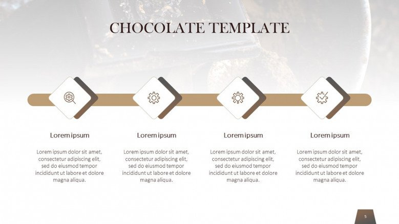 Chocolate Horizontal Timeline