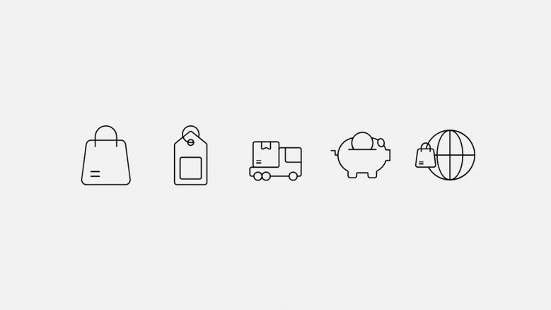e-commerce icons about online delivery