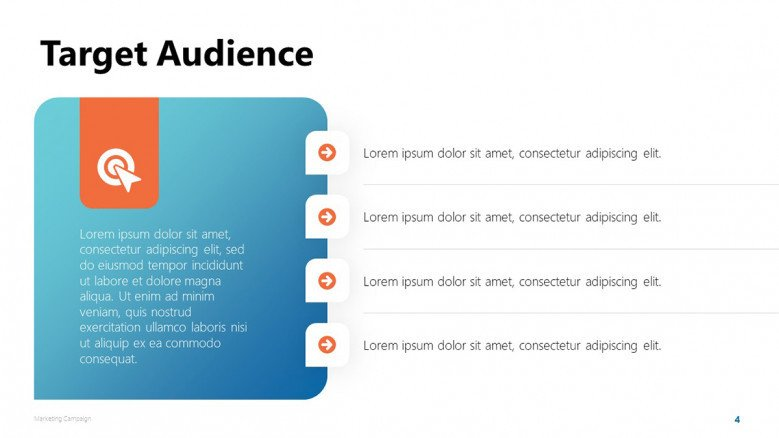 Marketing Campaign's Target Audience Slide