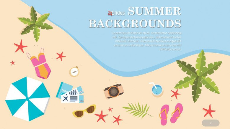 Summer Beach PowerPoint Background