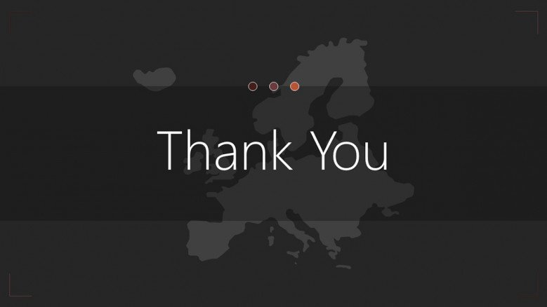 Thank you slide for Europe Map Presentation