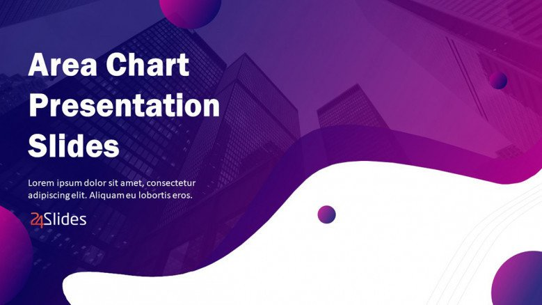 area chart welcome slide in creative style