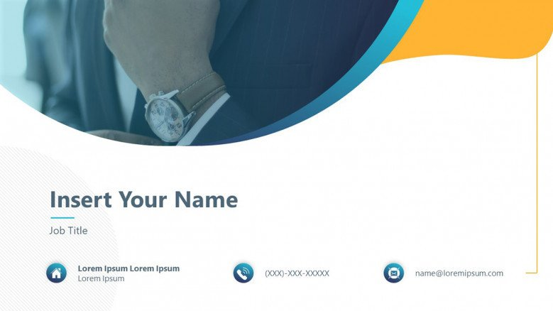Business Card Template with icons