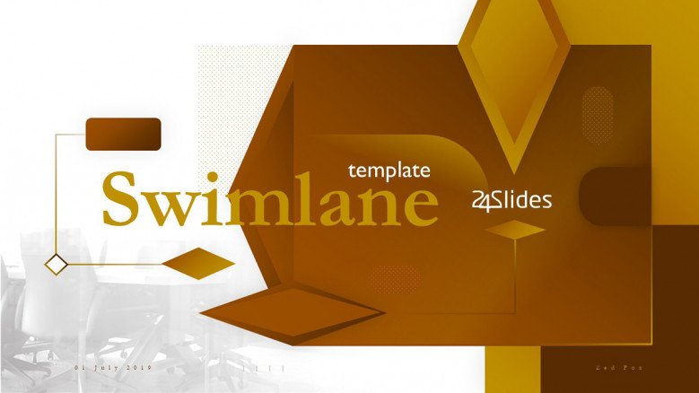 Swimlane diagrams for creative powerpoint presentations