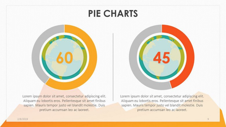 playful compared pie chart with data driven information text box