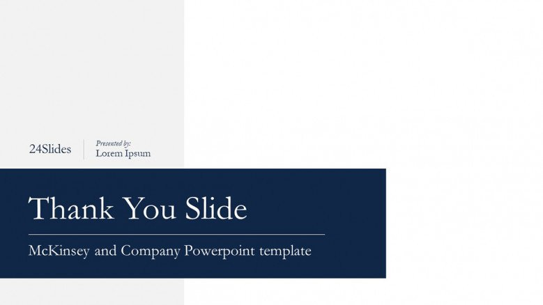Corporate Thank You Slide in McKinsey Style