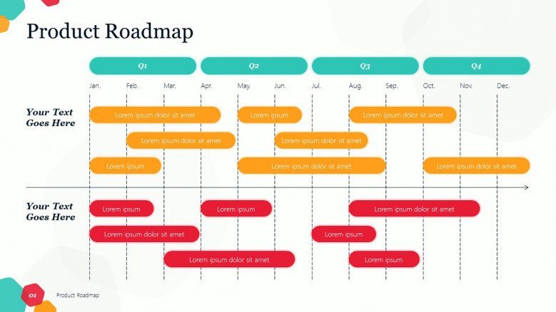 Creative Product Roadmap in playful style
